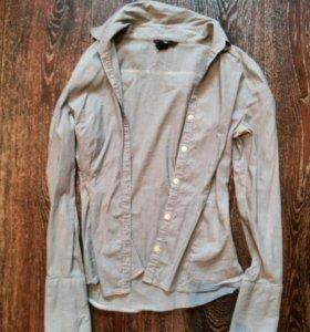 Рубашка в тонкую полоску h&m