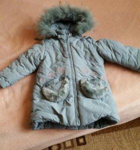 Пальто зимнее рост 98