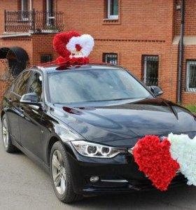 Аренда украшений на свадебное авто