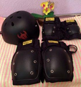 Комплект защиты для катания на скейте или