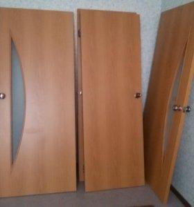 Двери межкомнатные 2+2 шт. (80 и 70 см)