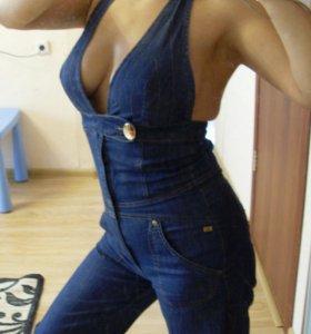 Супер комбинезон джинсовый
