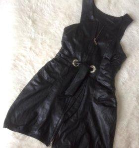 Платье / Сарафан кожаный