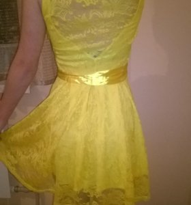 Платье желтое летнее