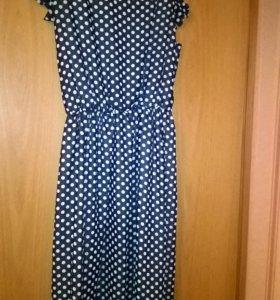 Платье до колена летнее легкое