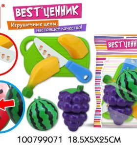 Набор фруктов на липучке