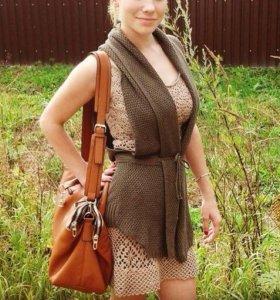 Вязанное платье xs-m