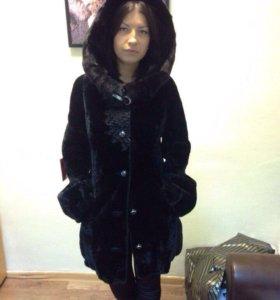 Пальто из мутона ( новое!!!)
