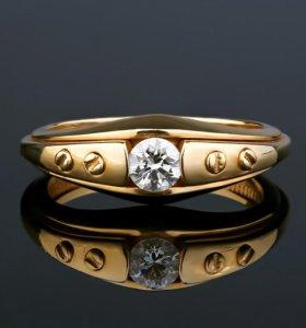Обручальные кольца с бриллиантом 4.5 мм