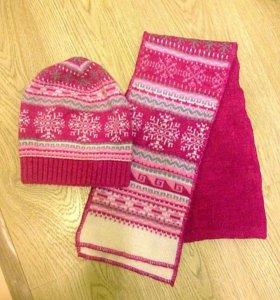Зимняя шапка+ шарф