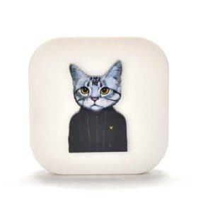 Новый Контейнер для линз кейс кот