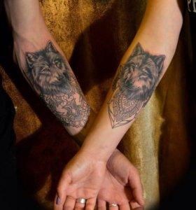 татуировка . домашняя студия