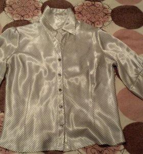 Рубашка шелковая женская