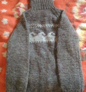 Шерстяной вязанный свитер