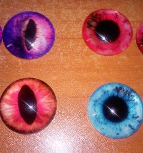 Глаза стеклянные 20мм для создания игрушек