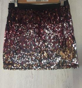 Новая юбка с пайетками