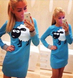 Платье с овечками, размер -42 в наличии