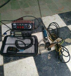 Рация с усилителем и антенной