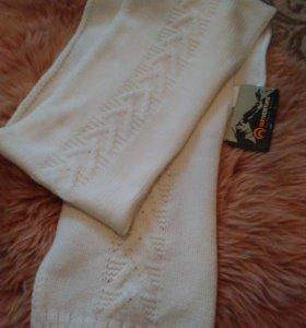 Новый вязаный белоснежный шарф!!