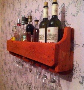 Полка для любителей вина