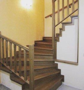 Лестницы из дерева и комплектующие