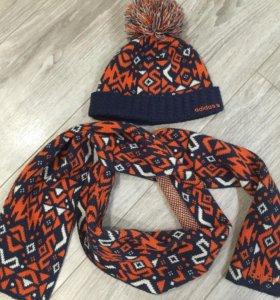 Комплект Шапочка +шарфик Adidas