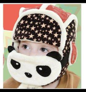 Новые зимние шапки с пандой!!!
