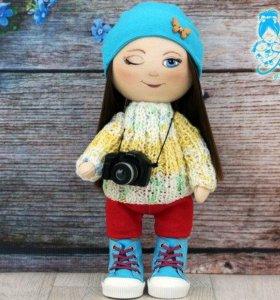 Интерьерная кукла- фотограф