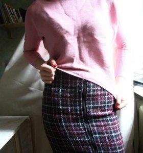 Теплая миди юбка