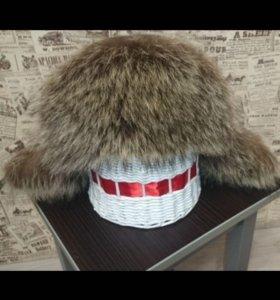 Новая зимняя шапка. Натуральная кожа и мех