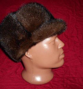 Норковая мужская шапка.