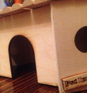 угловой домик для грызунов