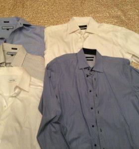 Новые мужские рубашки разных брендов р. 46-46