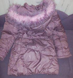 Куртка зимняя для девочки.8-10 лет.