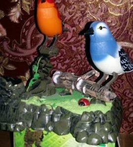 Птички поющие для интерьера