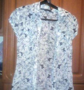 Блуза полупрозрачная в отличнов состоянии