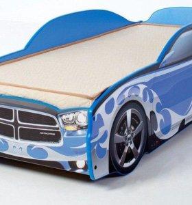 Кровать машина Додж с матрасом в наличии все цвета