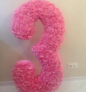 Декоративная цифра