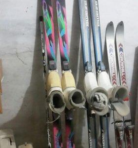 Лыжи горные и спортивные