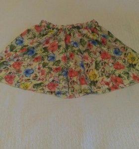 Короткая летняя юбка
