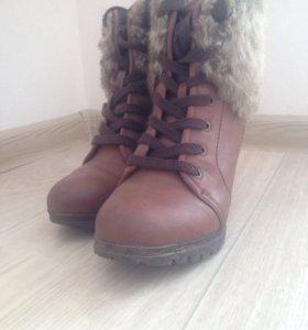 Ботинки зимние женские р-р 36
