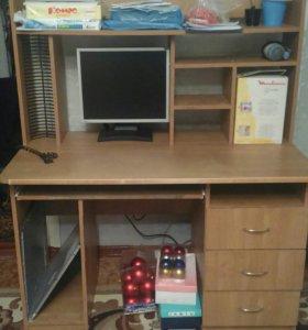 Стол компьютерный, письменный + стул компьютерный