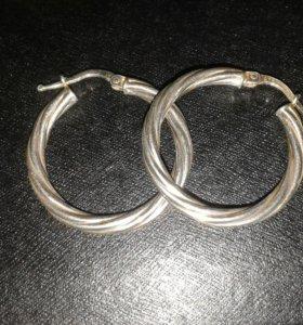Серебряные серьги(кольца)