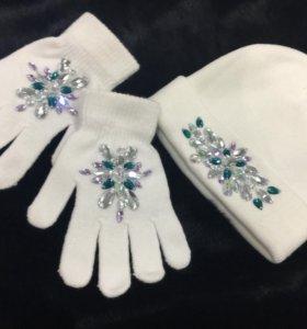 Комплект перчатки/шапка