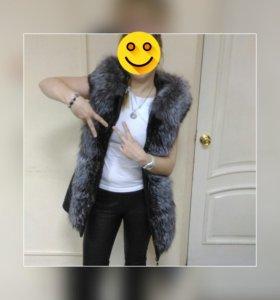 Зимняя кожаная курточка