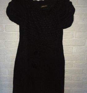 Чёрное,вязаное платье