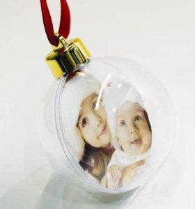 Шар на елку с Вашим фото