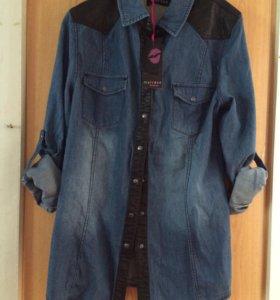 Джинсовая рубашка женская (новая)