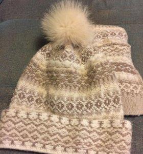 Комплект шапка и шарф
