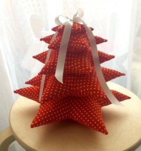 Елка подушка украшение на Новый год